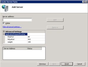 ARR Add Server